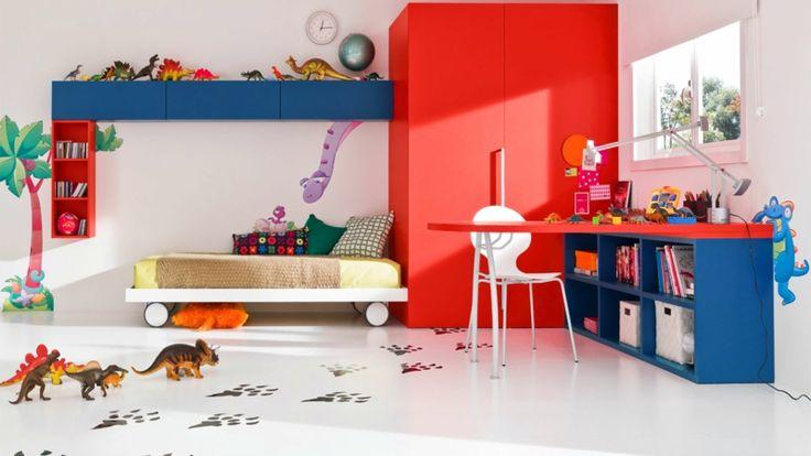 Einrichtungsbeisideen und farbige Kindermöbel
