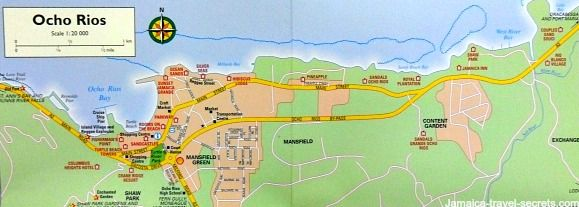 Map of Ocho Rios Jamaica | Overview and Interactive Ochi Maps