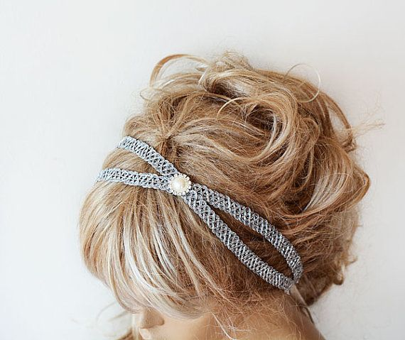 Hey, I found this really awesome Etsy listing at https://www.etsy.com/listing/194970913/silver-color-headband-silver-hair