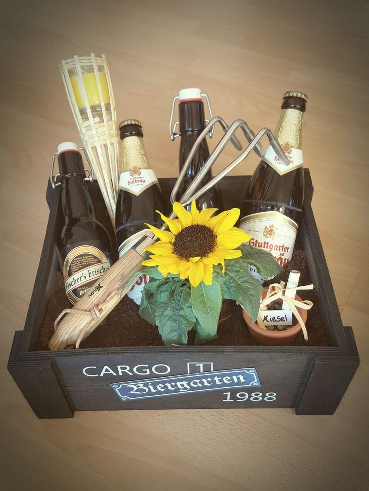 Kleiner Biergarten DIY - perfektes Geschenk zur Hauseinweihung oder zum Vatertag