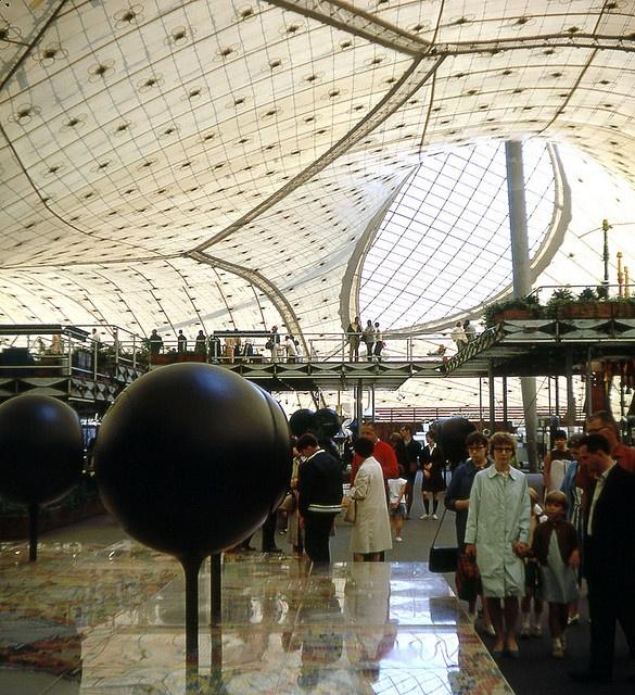 German pavilion interior at Expo 67, Montreal