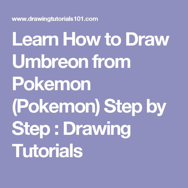 Learn How to Draw Umbreon from Pokemon (Pokemon) Step by Step : Drawing Tutorials