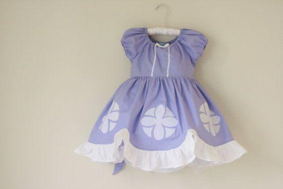 Sofia the First Cotton Everyday Princess Dress- sizes 3m 6m, 12m, 18m, 2, 3, 4, 5, 6, 7, 8