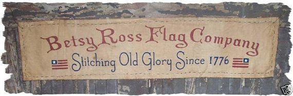 Betsy Ross Flag Company Primitive Americana by oldetimegatherings, $7.95