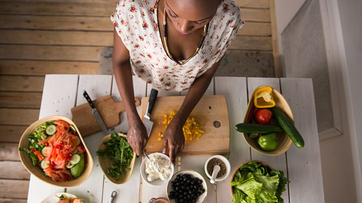 <p>Eating for two is a whole lot healthier and easier if you've stocked up on the right foods. Here are a few edibles your kitchen should never be without.</p>