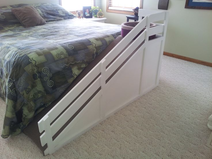 Customized dog ramp. Made to look like it goes with my bedroom furniture.