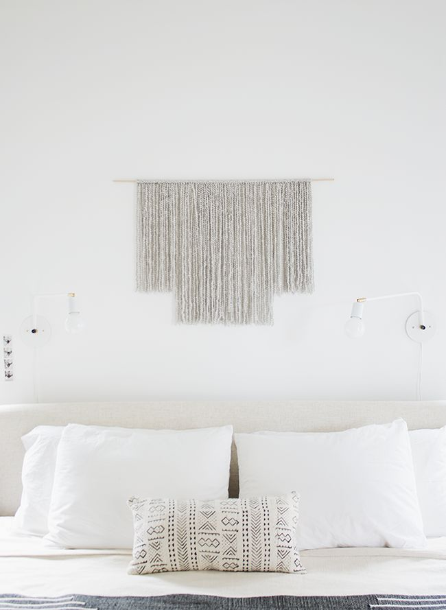in my opinion, the hardest place to decide art for is above the bed. but that's especially true when you live in california and your husband won't let you put anything above the bed bec…
