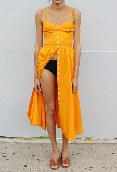 Street Style + Yellow Summer Dress www.emfashionfiles.com