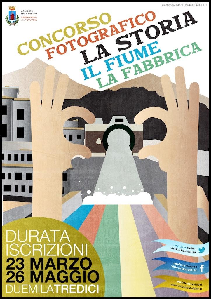 """Illustration for the Photo Contest """"La Storia, Il Fiume, La Fabbrica"""" - Isola Del Liri - © Gianfranco Nicoletti 2013"""