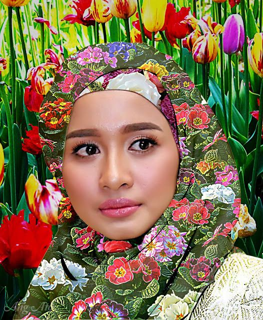 Ang Ato: Hijab Motif Bunga - Laudya Cynthia Bella