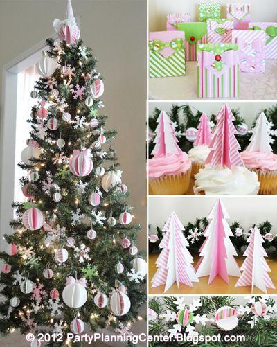 Free Printable Christmas Tree Cupcake Toppers