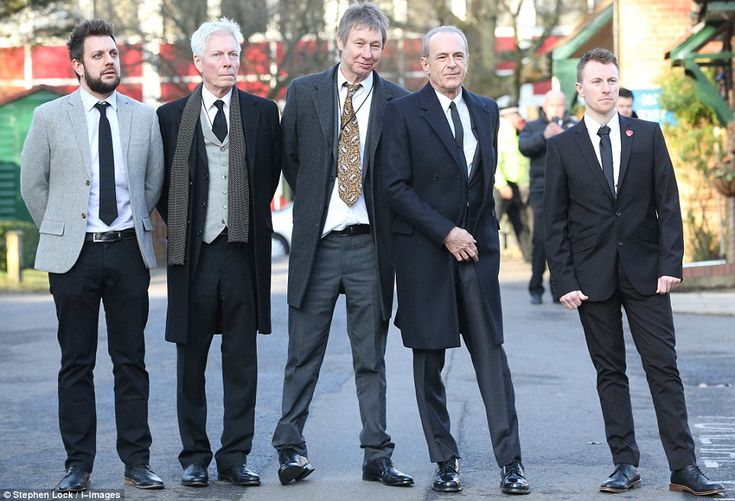 Status Quo members (from left) Leon Cave, 38, Andrew Brown, 70, John 'Rhino' Edwards, 63, ...