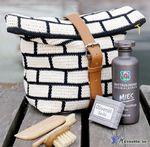 Мобильный LiveInternet Белые кирпичи на сумочке. Вязание крючком | Марриэтта - Вдохновлялочка Марриэтты |