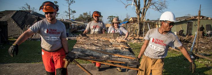 Team Rubicon unites the skills and experiences of military veterans with first responders to rapidly deploy emergency response teams to communities affected by disaster.