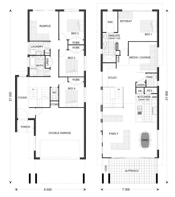 Hamilton 280 Our Designs G J Gardner Homes Queensland House Floor Plans Pinterest