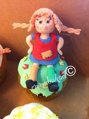 Pippi Longstocking cupcake Pippi Långstrump