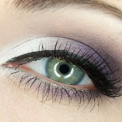 A gorgeous combination of purple and white eyeshadow colors are featured in this makeup, great for formal affairs. Discover the techniques and products needed to recreate this elegant look.