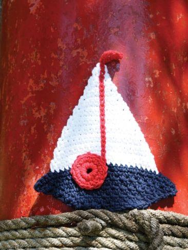Sailboat Dishcloth | Yarn | Free Knitting Patterns | Crochet Patterns | Yarnspirations