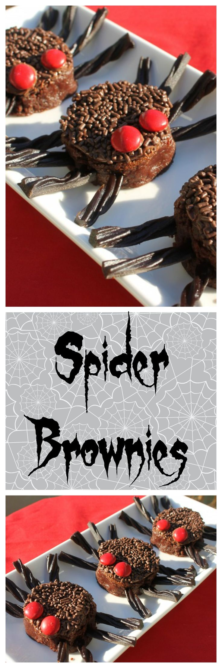 These spooky spider brownies are SO INCREDIBLY EASY! You will love making them for your Halloween party. They're a great activity for kids, too.
