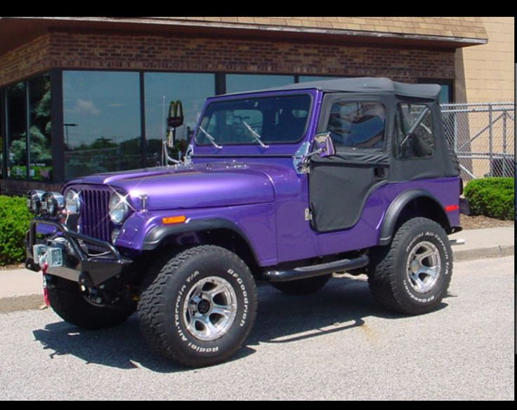 Dark Purple Jeep With Black Soft Top Would Want Hard Top