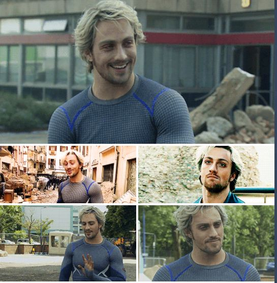 Aaron Taylor-Johnson as Pietro in Avengers: Age of Ultron
