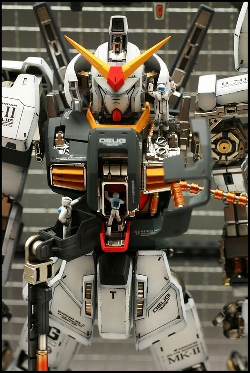 tomahawkfield:  MASTERPIECE: PG 1/60 RX-178 Gundam Mk-II A.E.U.G. Modeled by Minamp123. Full Photoreview No.38 Big Size Images | gunjap