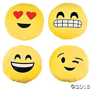Plush 10 Inch Emojis - 4 Pack Party Supplies Canada - Open A Party