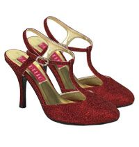 Womens Red Glitter Shoes - Costume Accessories - Shoes