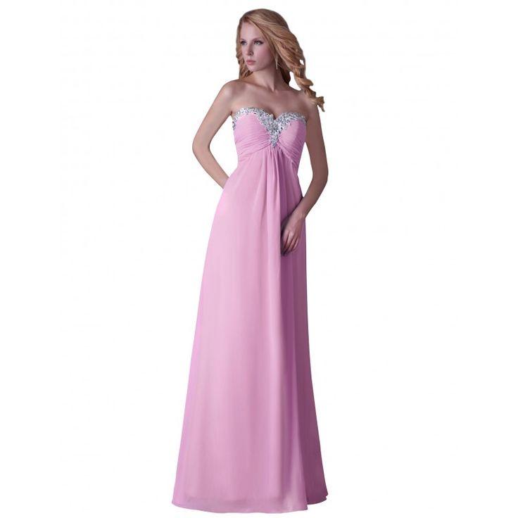 Ružové spoločenské šaty CL3518