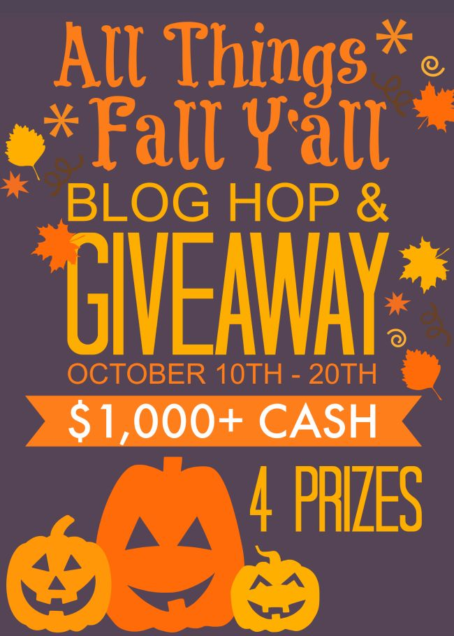 73 Fall & Halloween inspired ideas and The All Things Fall Y'all Blog Hop & Giveaway  - 4 prizes!!