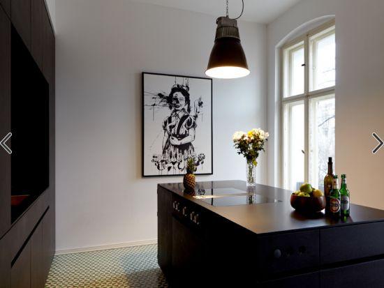 Płytki cementowe Articima nr 241 - piękna realizacja z 2012 opublikowana w Houzz.de.