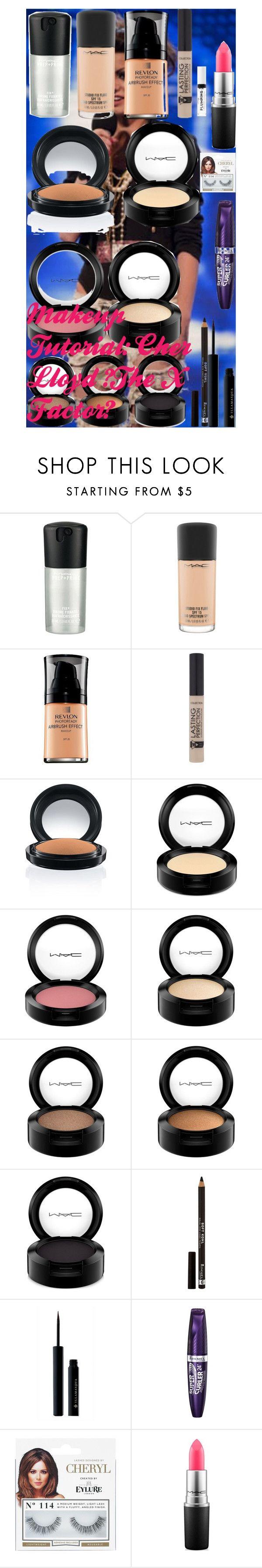 """Makeup Tutorial: Cher Lloyd (The X Factor)"" by oroartye-1 on Polyvore featuring beauty, MAC Cosmetics, Revlon, Rimmel, Illamasqua and eylure"