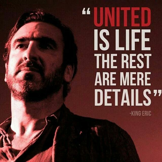 The King speaks. @manutd is life, the rest are mere details.
