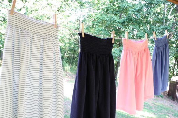 make a skirt out of an old tshirt