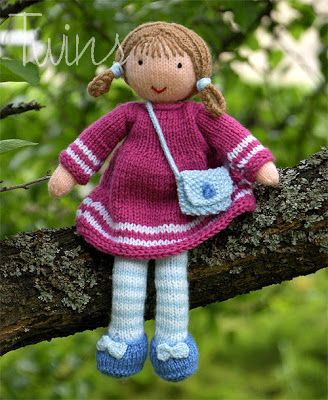 Twins' Knitting Pattern MiniShop: Valerie the Doll (in English) $5 - Valerie is about 12 inches high. This pattern is for advanced knitters.