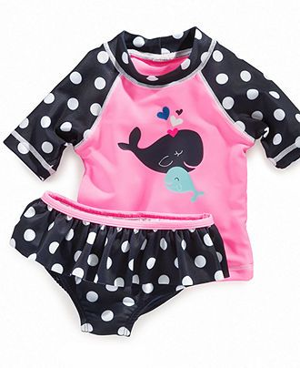 Carter's Baby Swimwear, Baby Girls Two Piece Whale Rashguard Swimsuit - Kids - Macy's