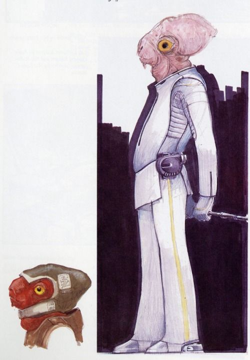 Phil Tippet's Admiral Ackbar concept sketch