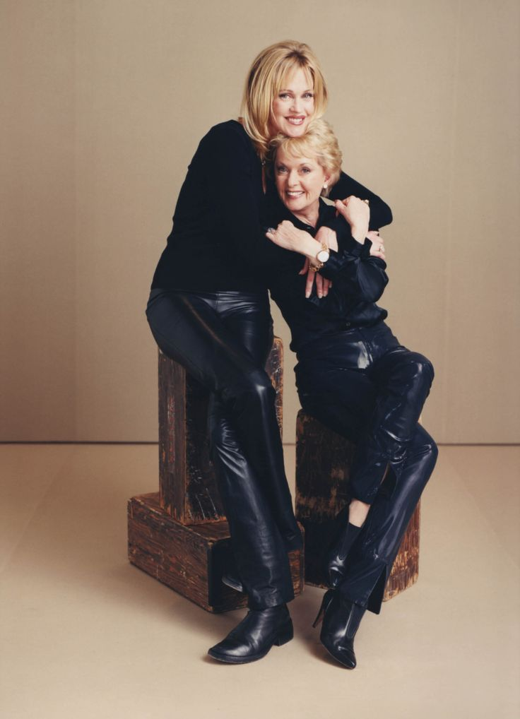 Tippi Hedren and her daughter Melanie Griffith.