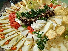 Käseplatte zum Mitternachtsbüffet - www.festsaal-forchheim.de