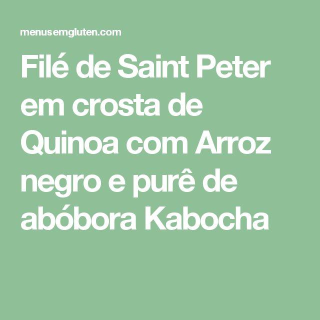 Filé de Saint Peter em crosta de Quinoa com Arroz negro e purê de abóbora Kabocha