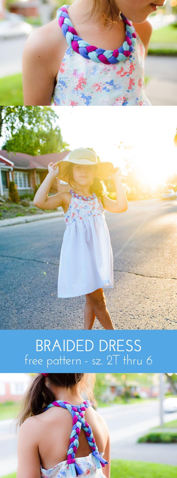 Braided Dress - free girls dress pattern, size 2T thru 6T