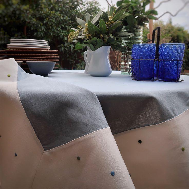Mantel Confeti en lino y algodón 100% de la colección Botánica de Villalegría Homelinen