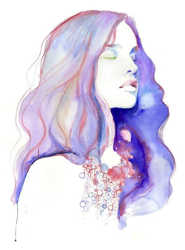 Watercolor Fashion Illustrations by Cate Parr:  art activities:  watercolor plus colored pencil/crayon/marker accents - Gustav Klimt, Andy Warhol - fashion and art combo
