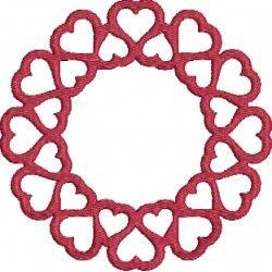 Heart Monogram Machine Embroidery Design Valentine's Day