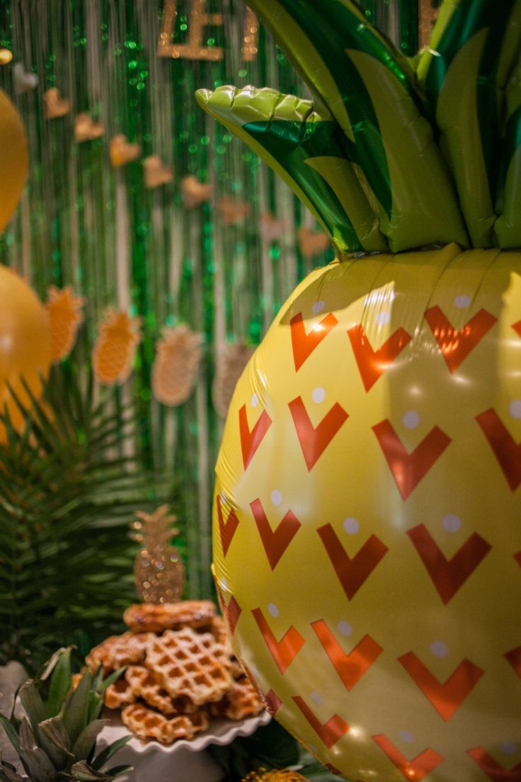Hello Pineapple! A perfect addition to your next tropical themed party. Awesome for bachelorette, shower or even a birthday party. Time to bring the tropics indoors!