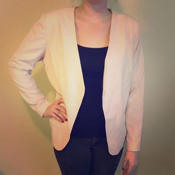 Light Peach Blazer Light peach colored blazer, professional or casual! Lightly padded shoulders, very modern. Size XL! Mossimo Supply Co. Jackets & Coats Blazers