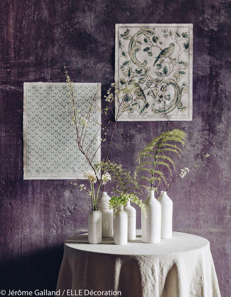 Bouquet de fougères dans un décor épuré  - 6 petits bouquets champêtres charmants - Elle Décoration