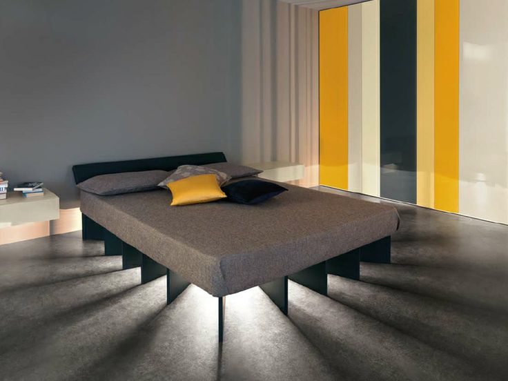 Double Bed With Lighting System At The Base BEAM By Lago | #Design Ewan  Robertson