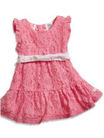 Baju Bayi Fluffy - GUESS Anak Perempuan Bayi Lace Dress dengan Printed Sash dan Bl | Pusat Baju Bayi Terbesar dan Terlengkap Se indonesia