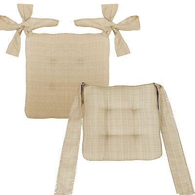 Stuhlkissen mit Schleifenbändern Sitzkissen Rattan Stuhl Stühle Kissen Auflage 2